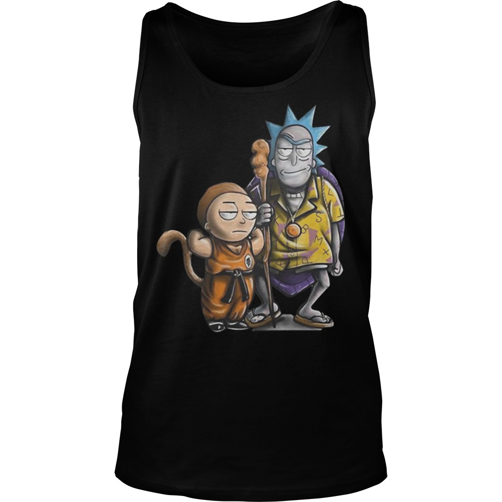 Rick and Morty dragon ball Tank top