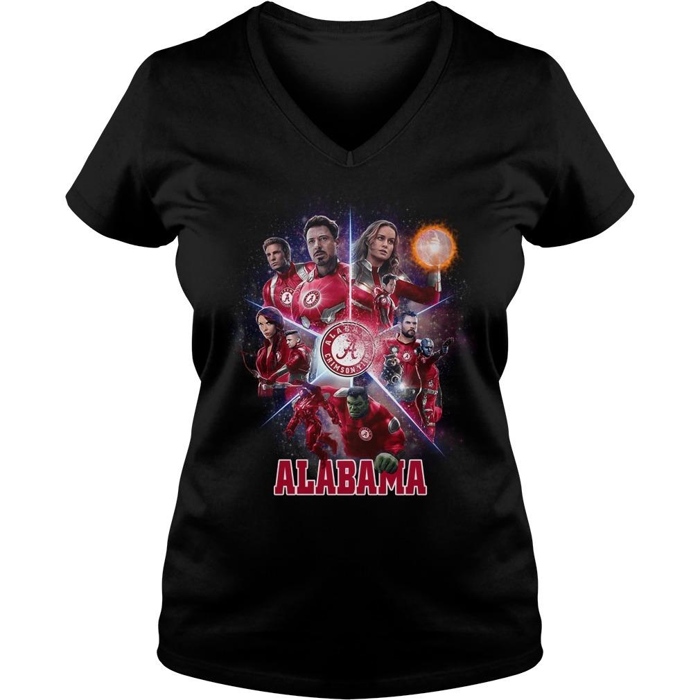 Alabama Crimson Tide Avengers Endgame V-neck T-shirt
