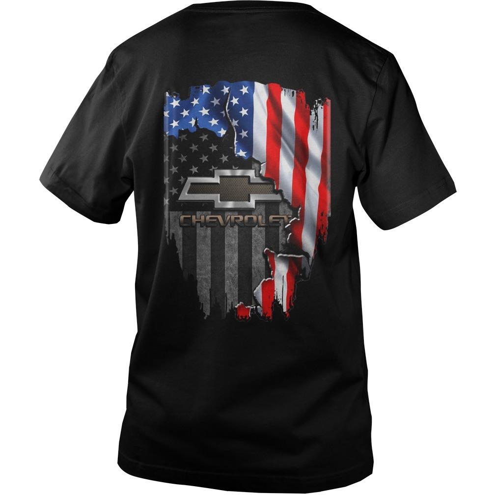 American flag Chevrolet Guys V-neck