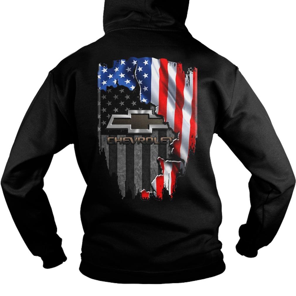 American flag Chevrolet Hoodie