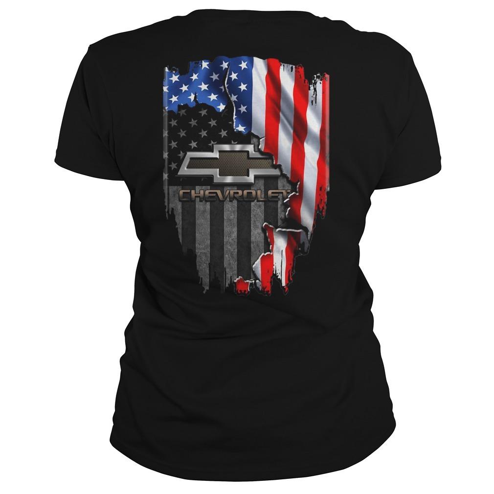 American flag Chevrolet Ladies Tee