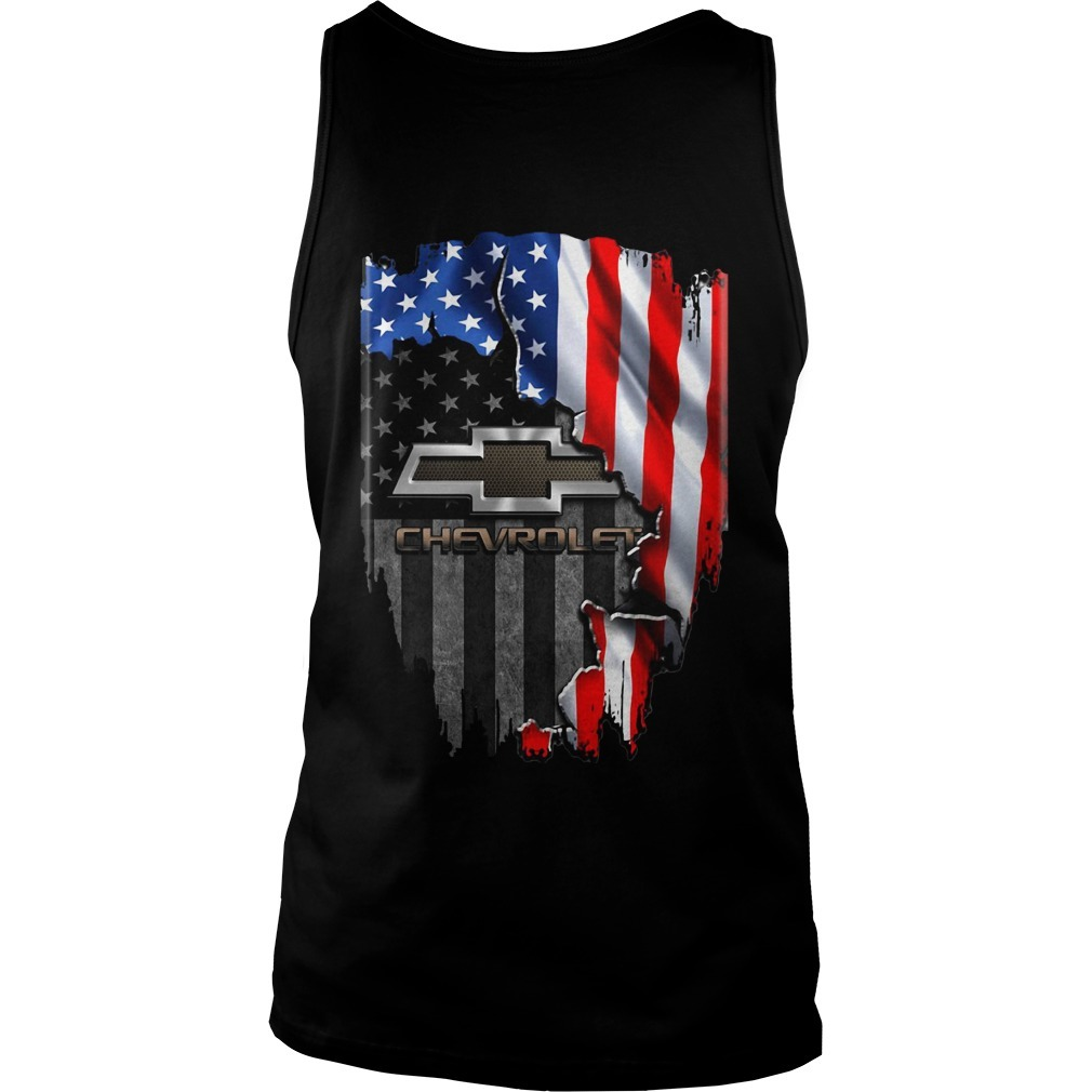 American flag Chevrolet Tank Top