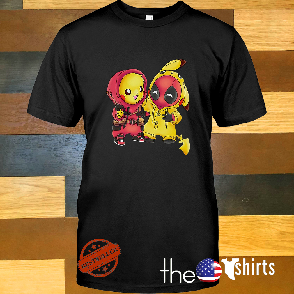 Baby Pokemon Pikachu and Deadpool shirt