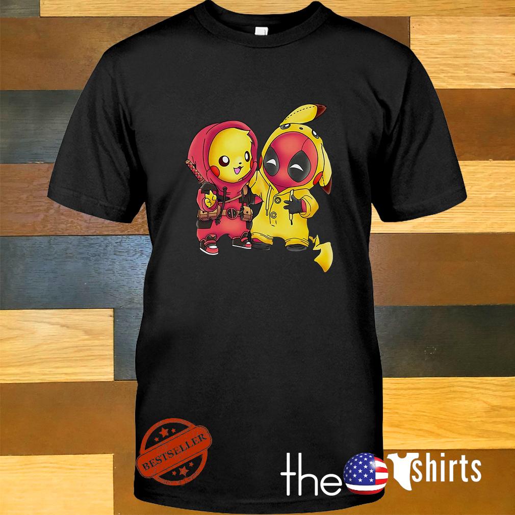 955b0162 Baby Pokemon Pikachu and Deadpool shirt, sweater, hoodie