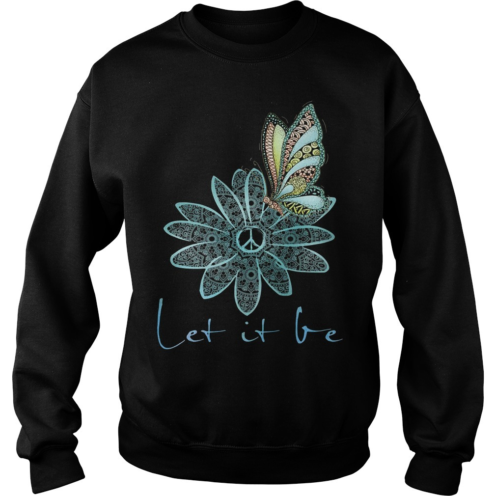 The Beatles flower butterfly let it be Sweater