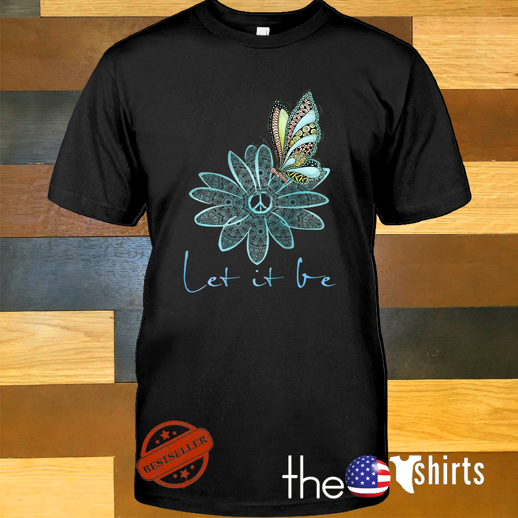 The Beatles flower butterfly let it be shirt
