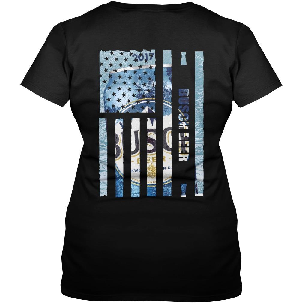 Busch Beer American flag V-neck T-shirt