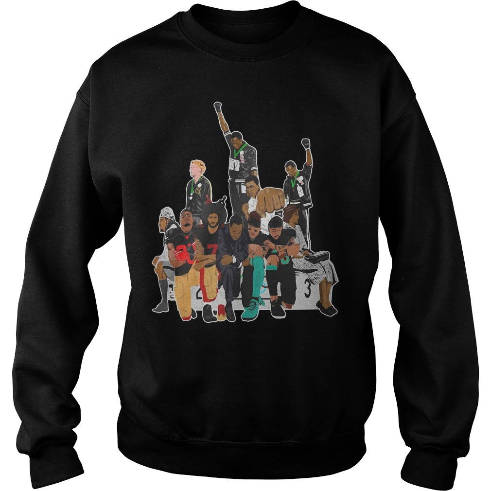 Colin Kaepernick 1968 Olympics black power peaceful protest Sweater