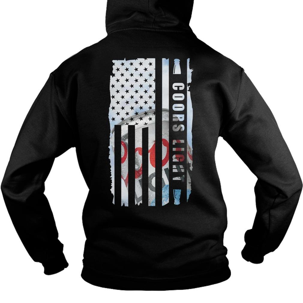 Coors Light Veteran US flag Hoodie