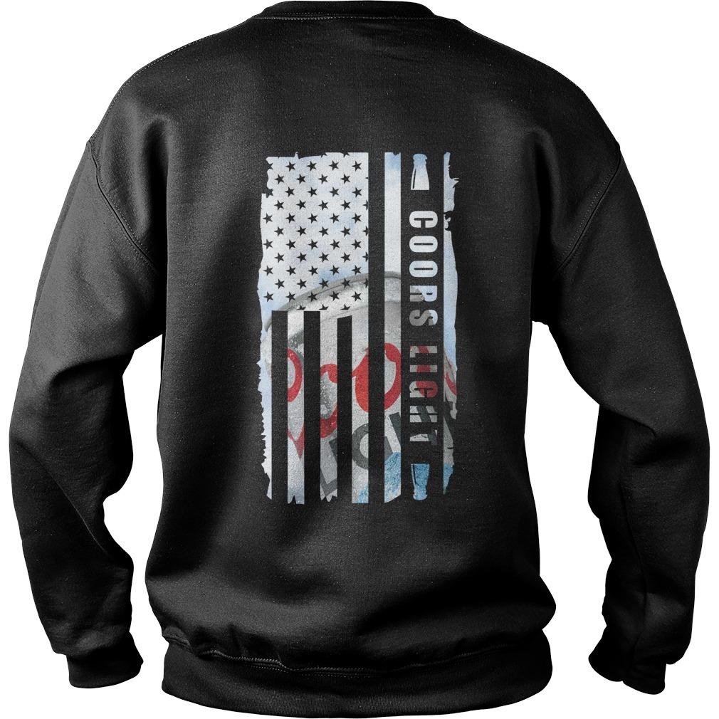 Coors Light Veteran US flag Sweater