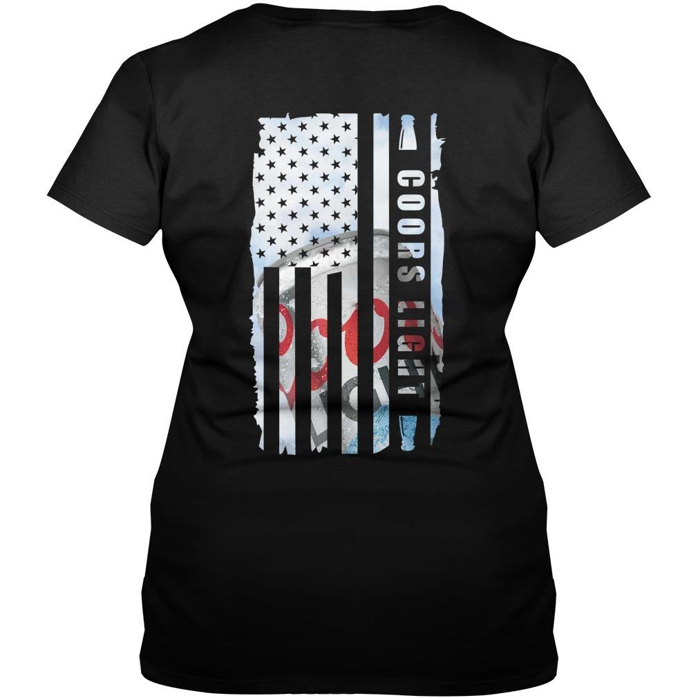 Coors Light Veteran US flag V-neck T-shirt