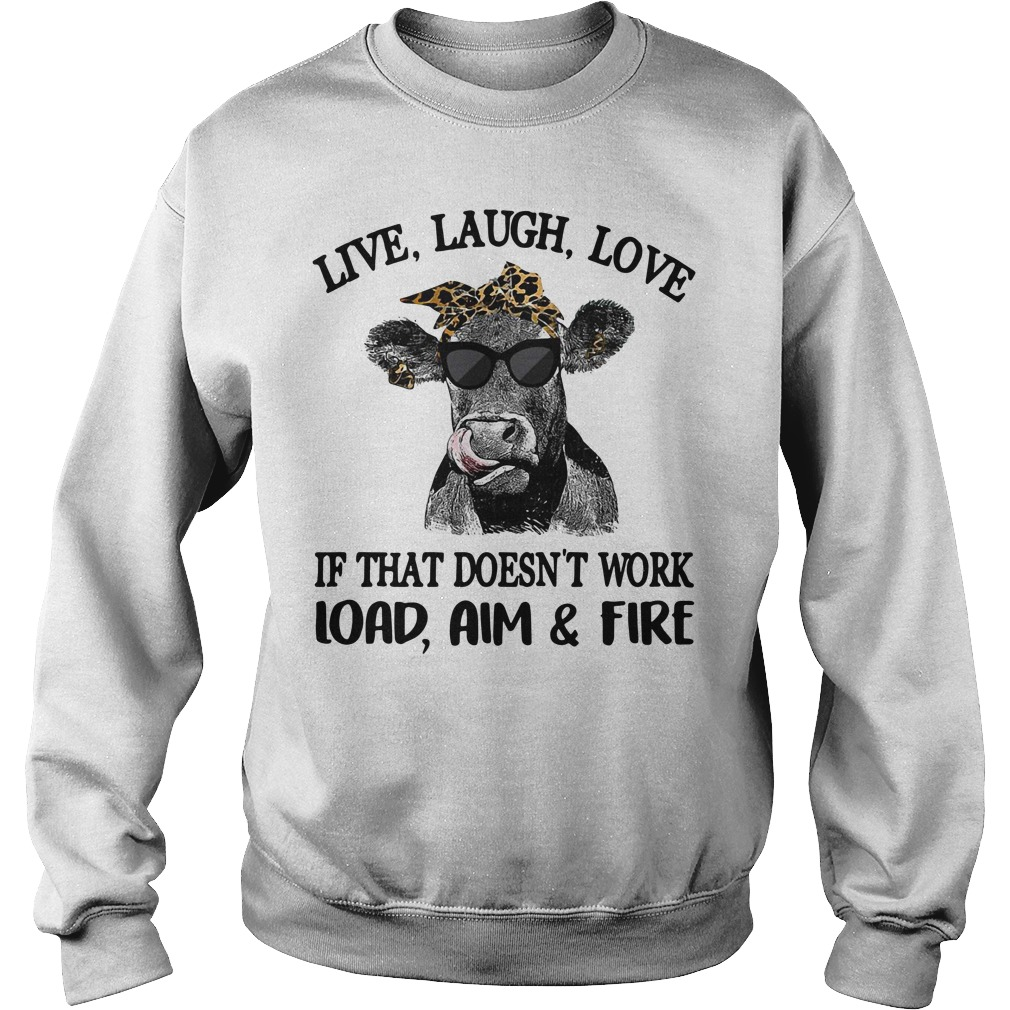 Cows wearing yellow bandanas keep your bullshit out of my pasture Sweater