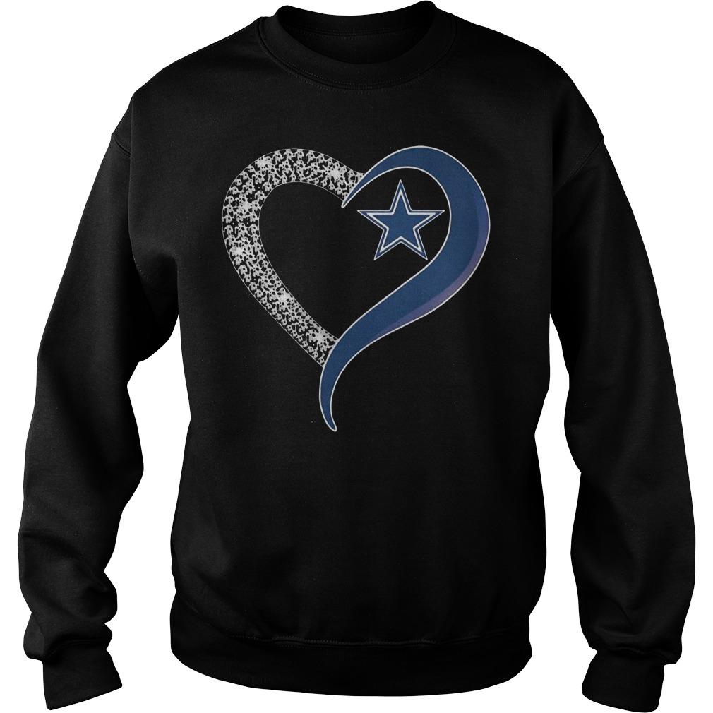 Diamond Dallas Cowboys heart Sweater