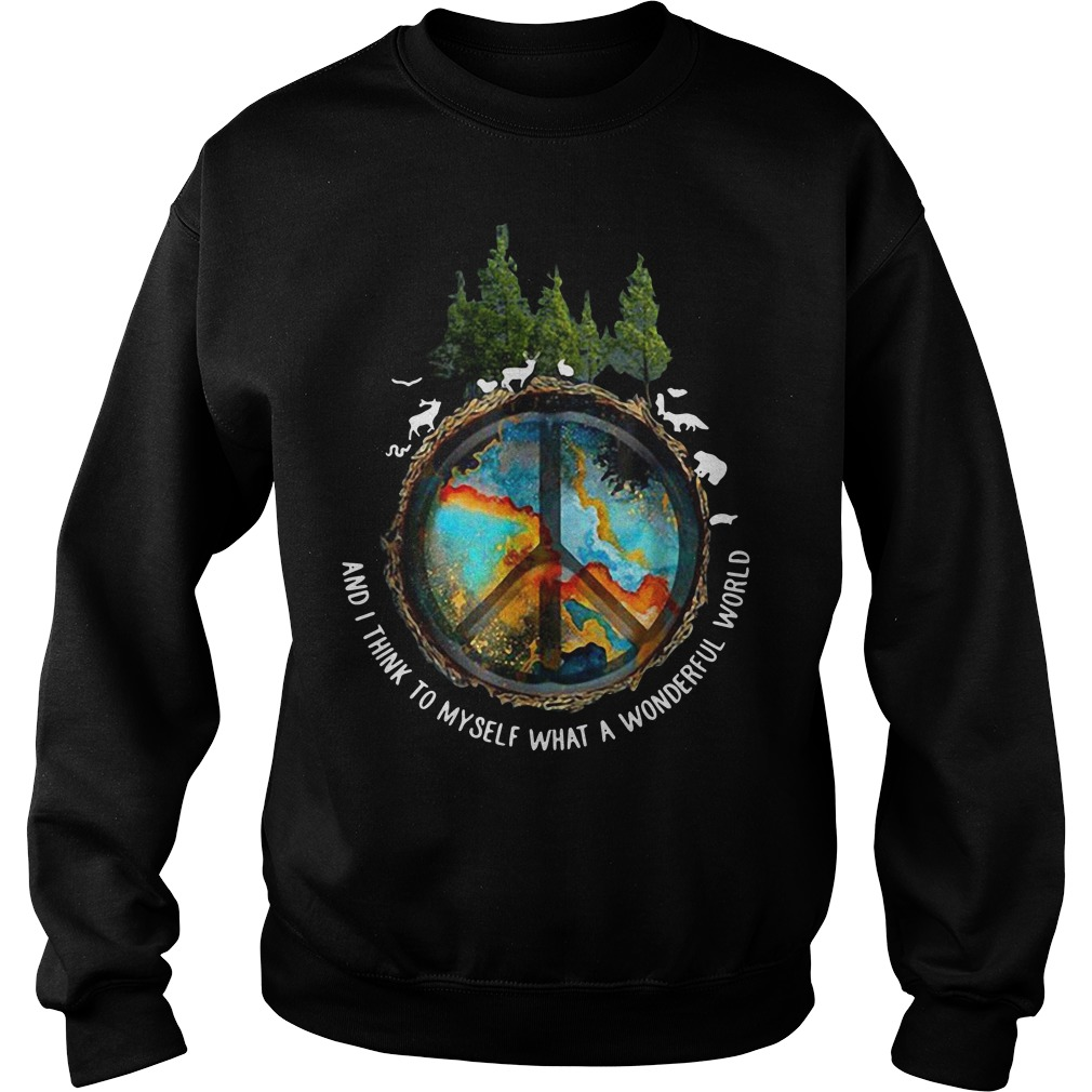 The earth's environment and I think to myself what a wonderful world Sweater
