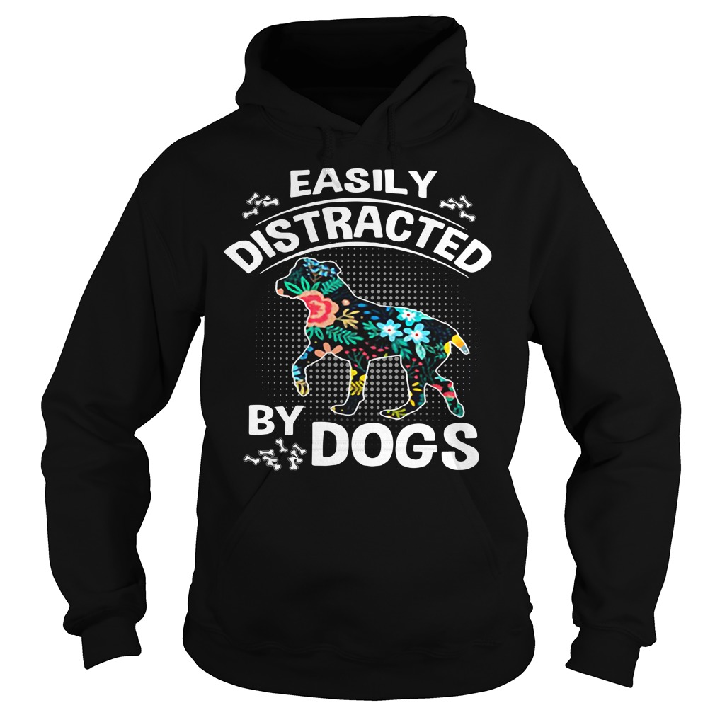 Easily distracted by dogs flower Hoodie