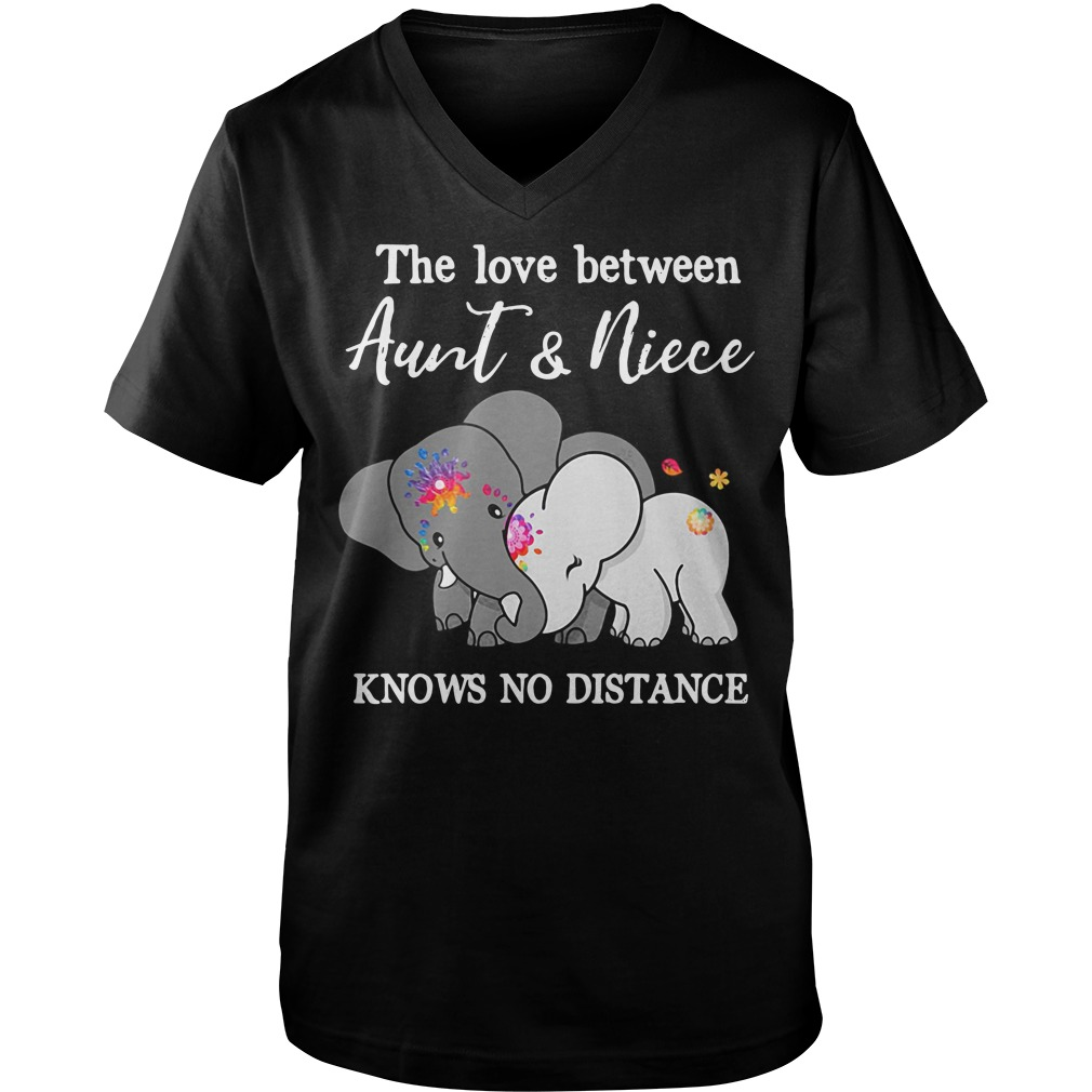 Elephants the love between aunt and niece knows no distance Guy V-Neck