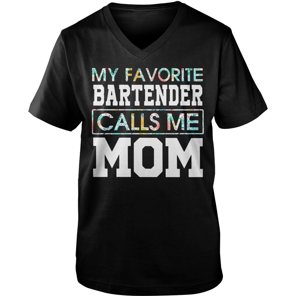 My favorite bartender calls me mom Guys V-neck