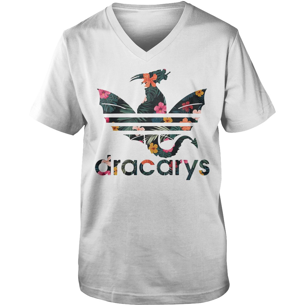 Game of Thrones Adidas dracarys green flower Guy V-Neck