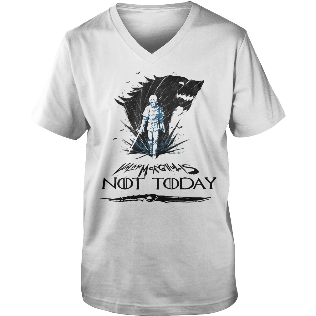 Game Of Thrones Arya Stark Valar Morghulis not today Guy V-Neck