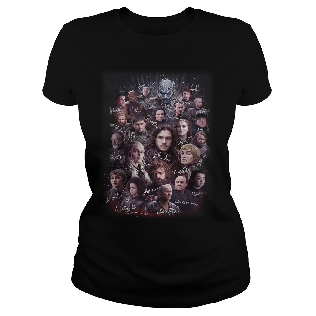 Game of Thrones character signature Ladies Tee
