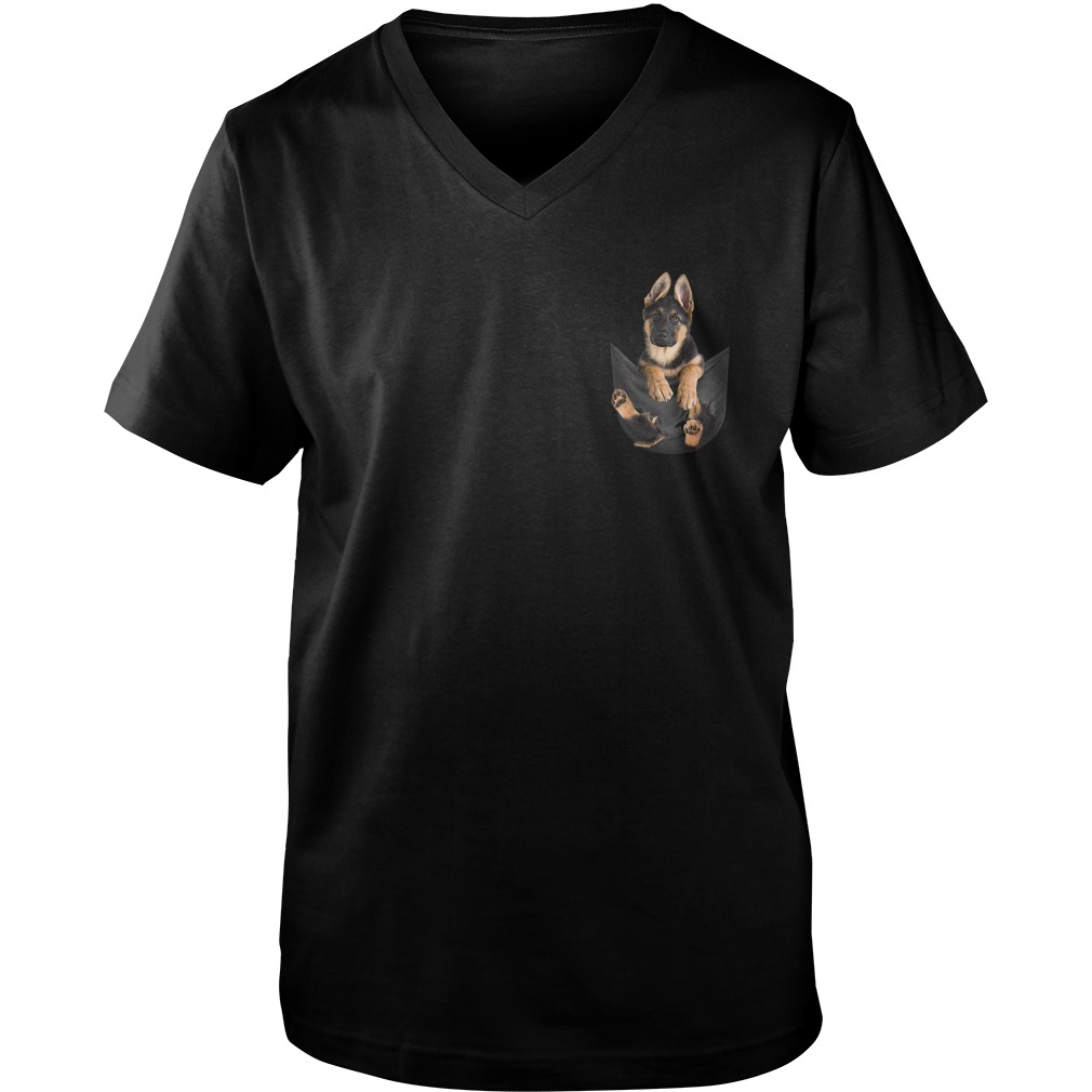 German Shepherd in pocket Guy V-Neck