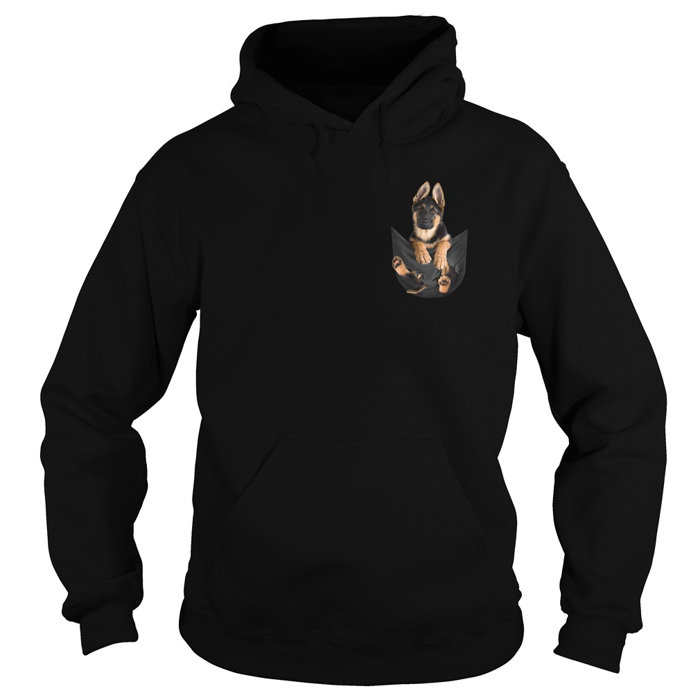 German Shepherd in pocket Hoodie
