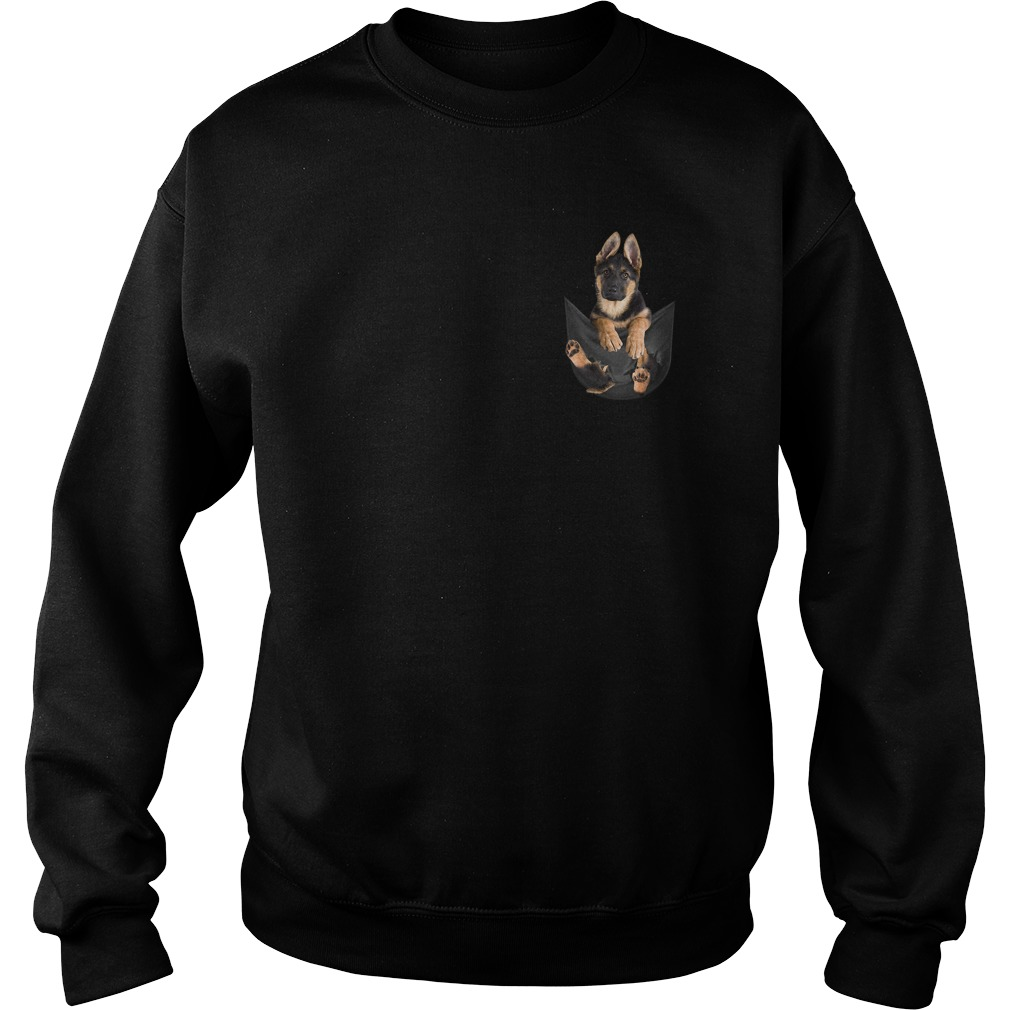 German Shepherd in pocket Sweater