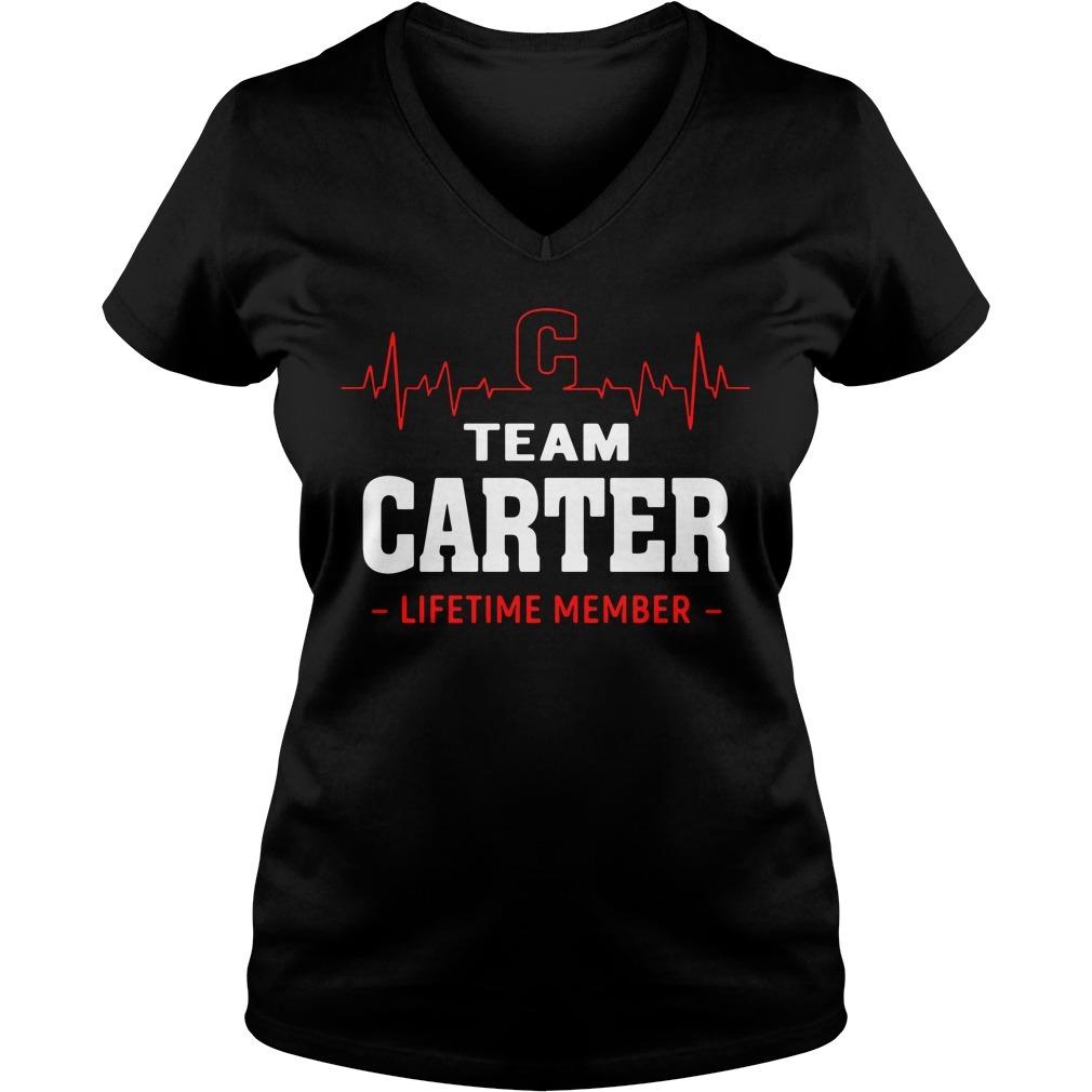 Heartbeat C team Carter lifetime member V-neck t-shirt