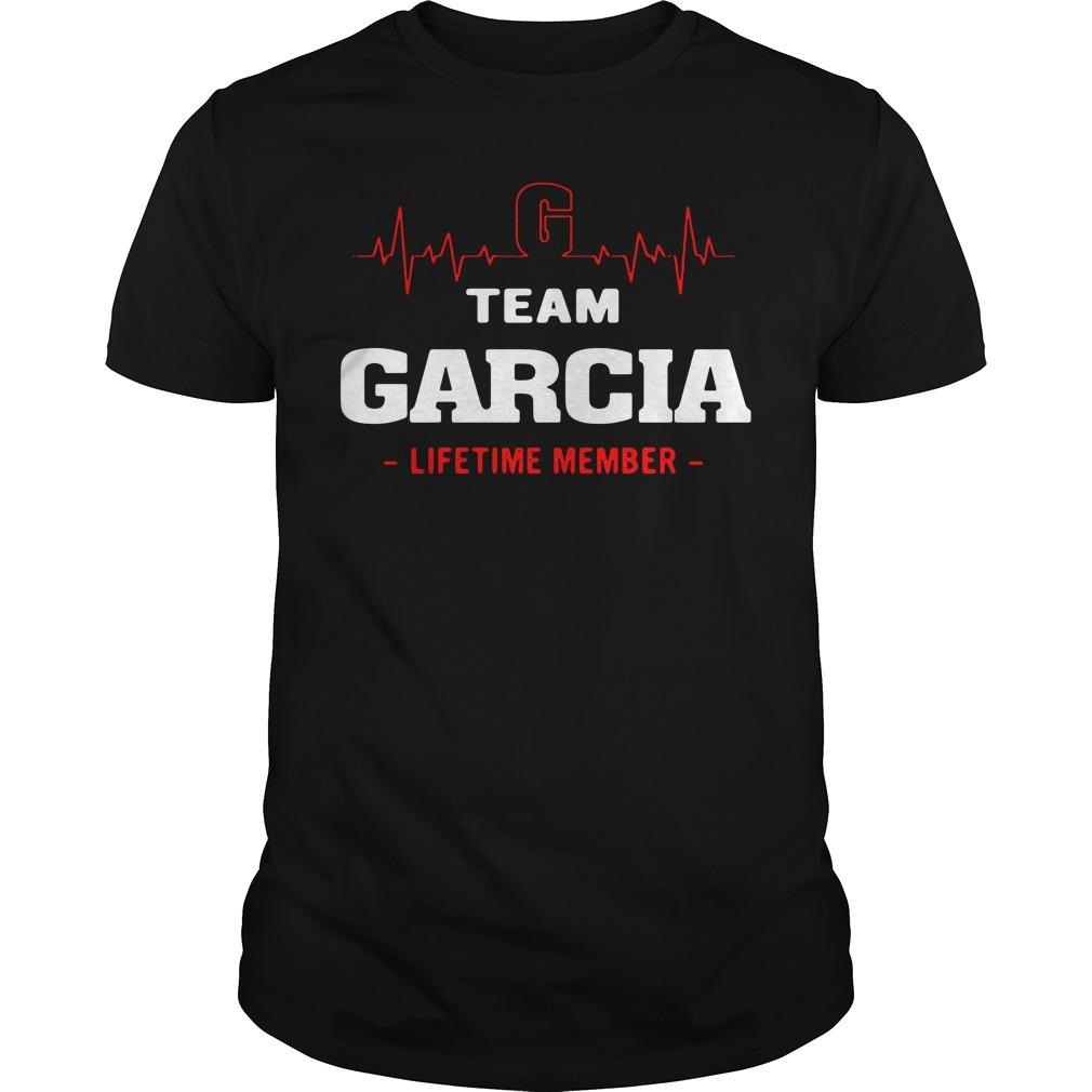 Heartbeat G team Garcia lifetime member shirt