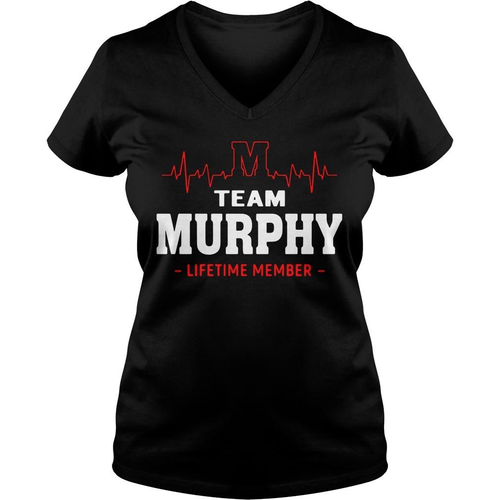 Heartbeat M team Murphy lifetime member V-neck T-shirt