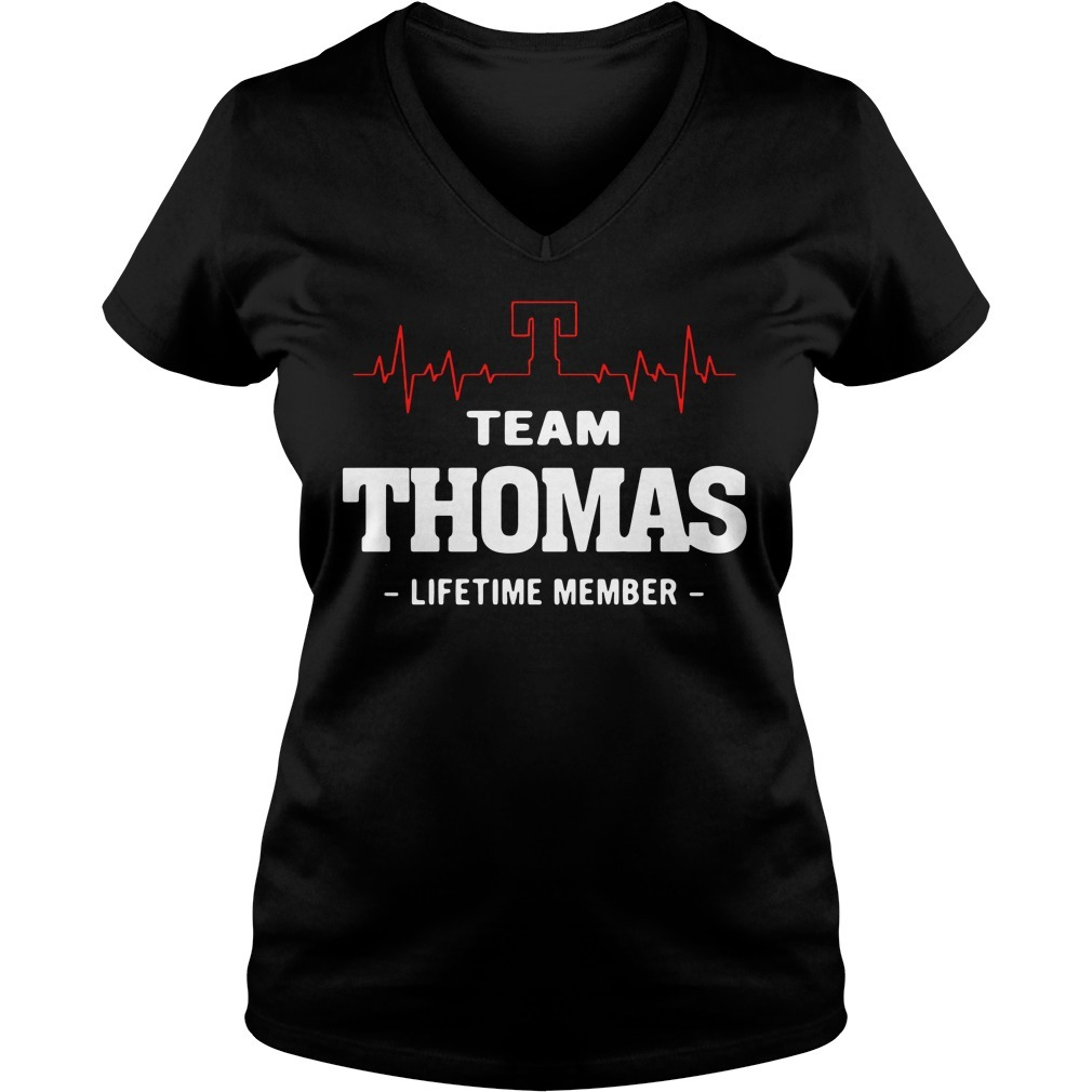 Heartbeat T team Thomas lifetime member V-neck T-shirt