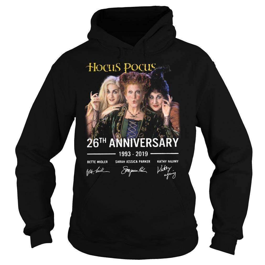Hocus Pocus 26th anniversary 1993-2019 signature Hoodie