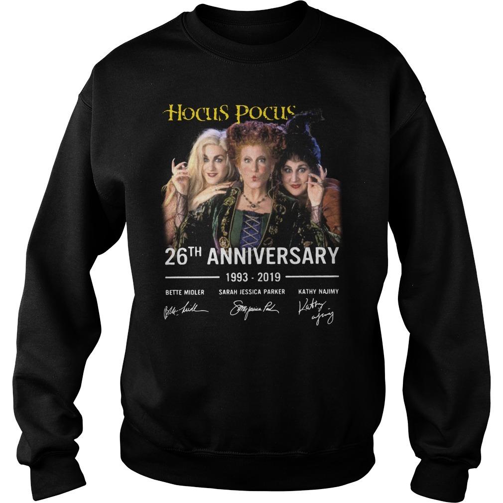 Hocus Pocus 26th anniversary 1993-2019 signature Sweater