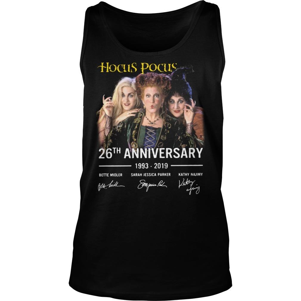 Hocus Pocus 26th anniversary 1993-2019 signature Tank top