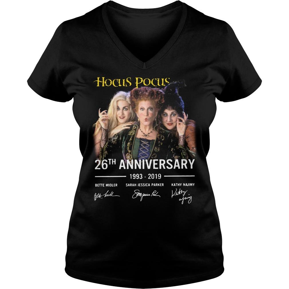 Hocus Pocus 26th anniversary 1993-2019 signature V-neck T-shirt