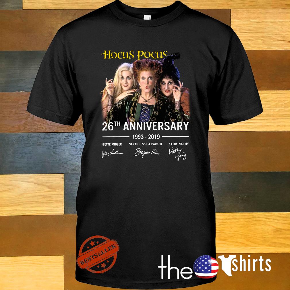 Hocus Pocus 26th anniversary 1993-2019 signature shirt