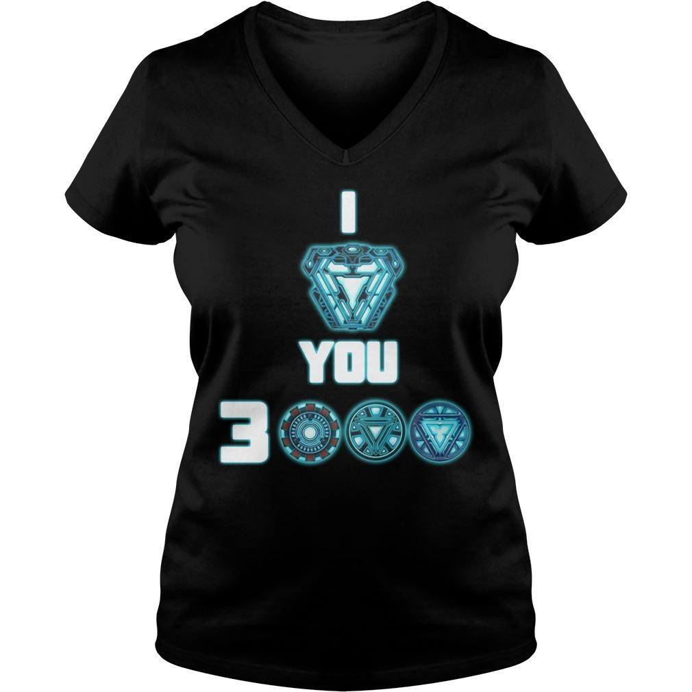 I love you 3000 Iron Man V-neck T-shirt