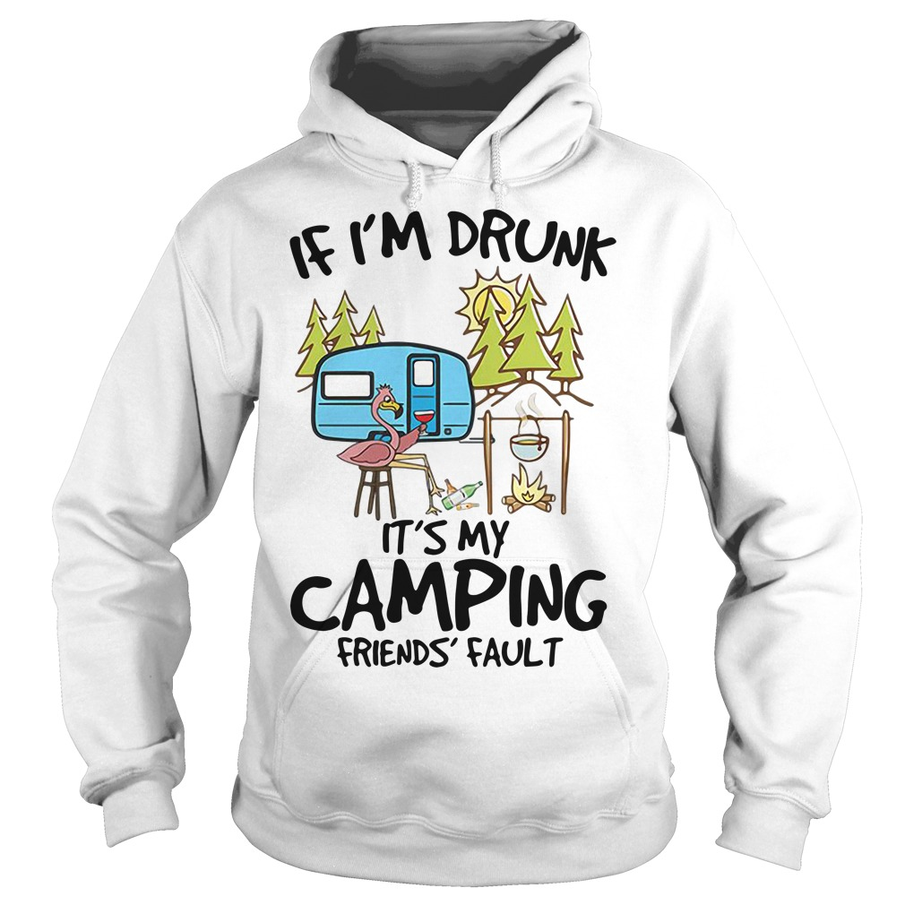 If I'm drunk it's my camping friends fault Hoodie