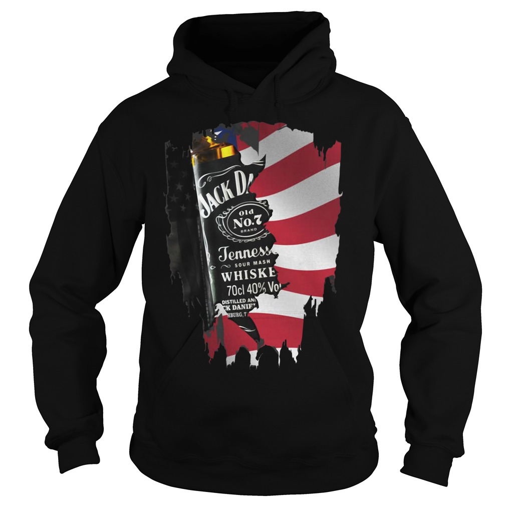 Independence day 4th of July Jack Daniel's America flag Hoodie