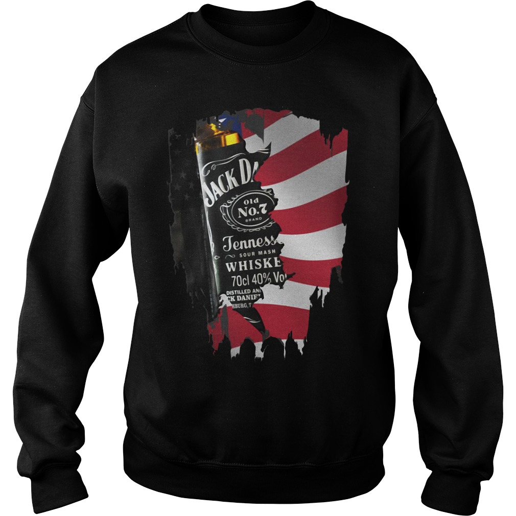 Independence day 4th of July Jack Daniel's America flag Sweater