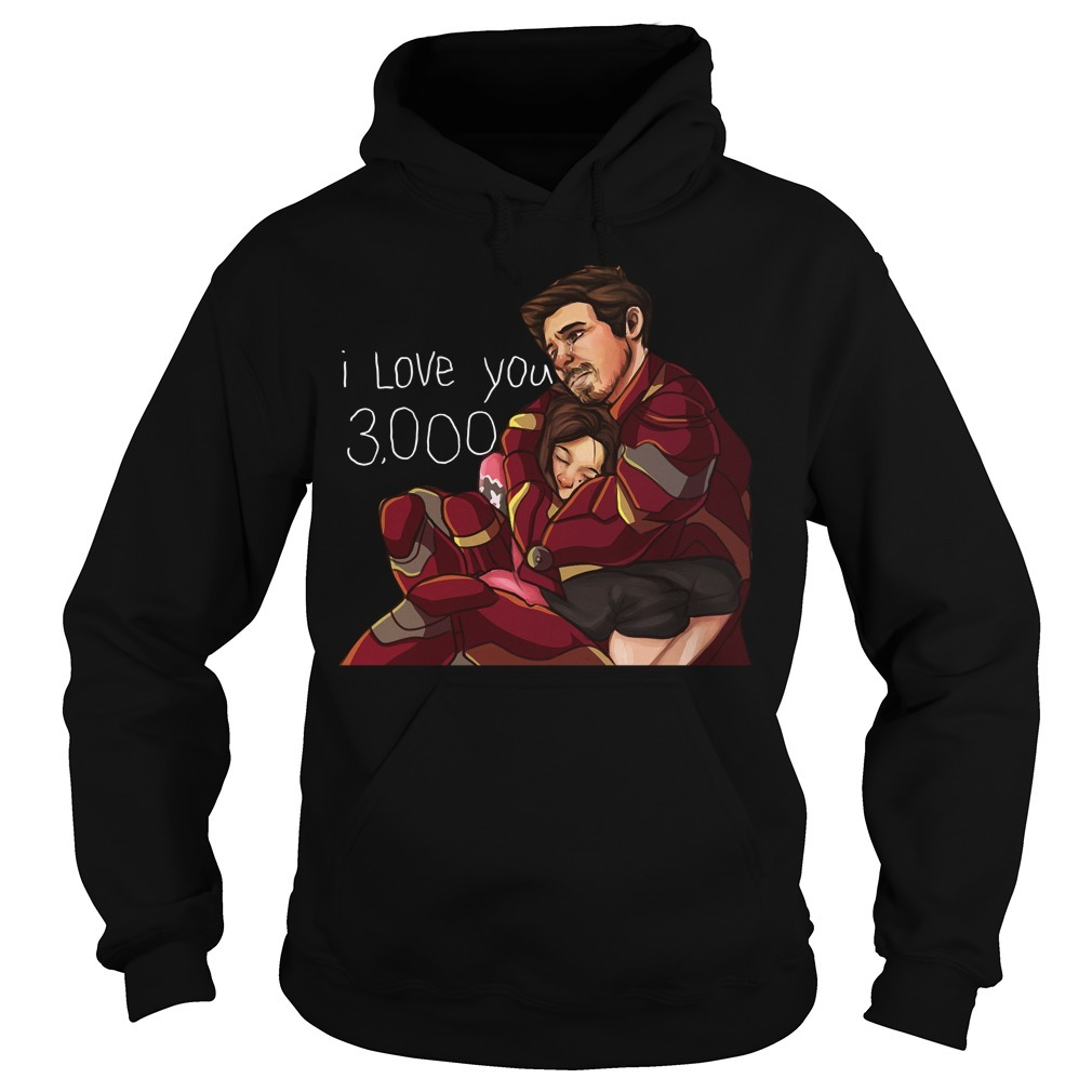 Iron man dad and daughter I love you 3000 times Hoodie