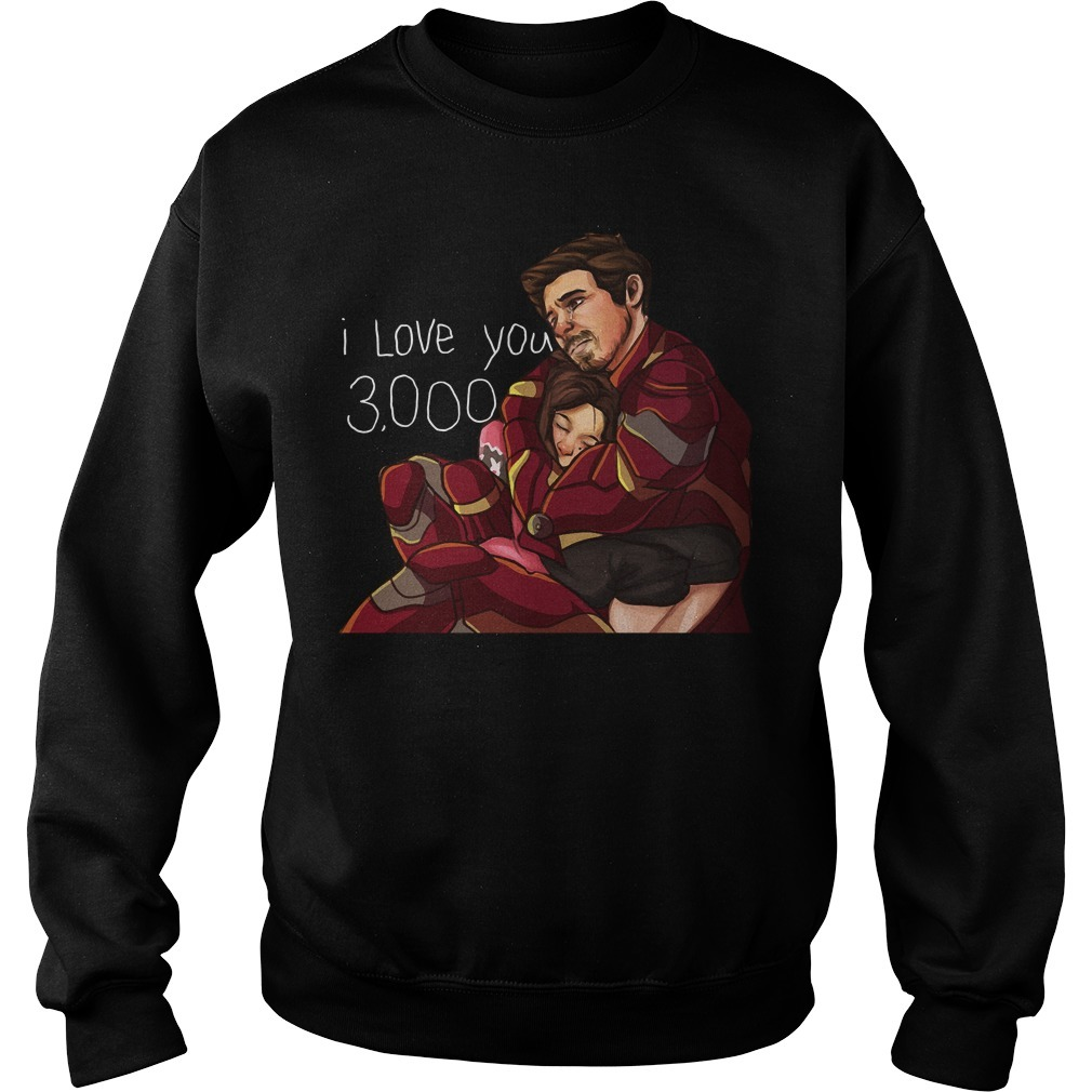Iron man dad and daughter I love you 3000 times Sweater
