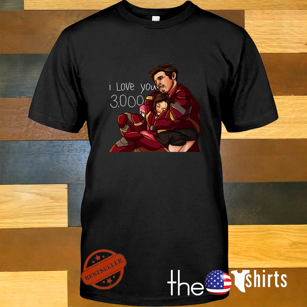 Iron man dad and daughter I love you 3000 times shirt
