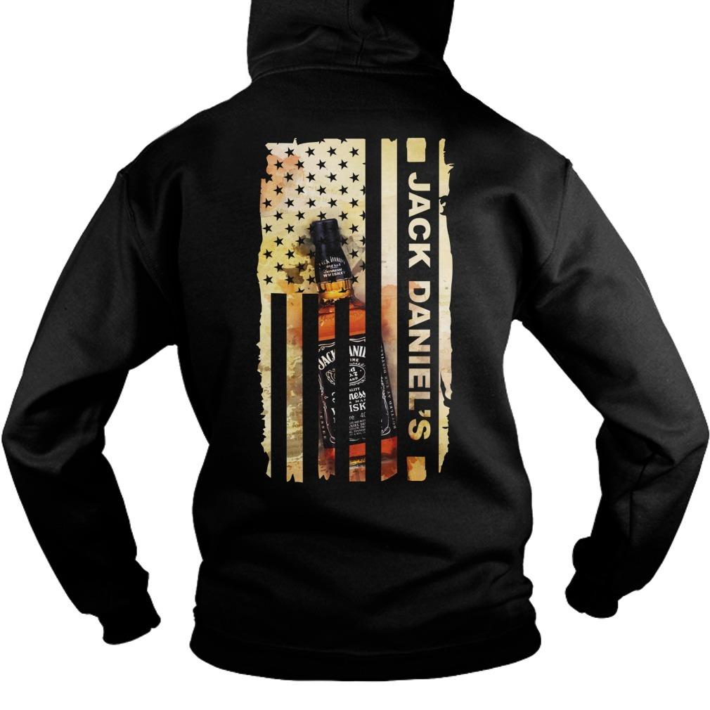 Jack Daniel's Veteran US flag Hoodie