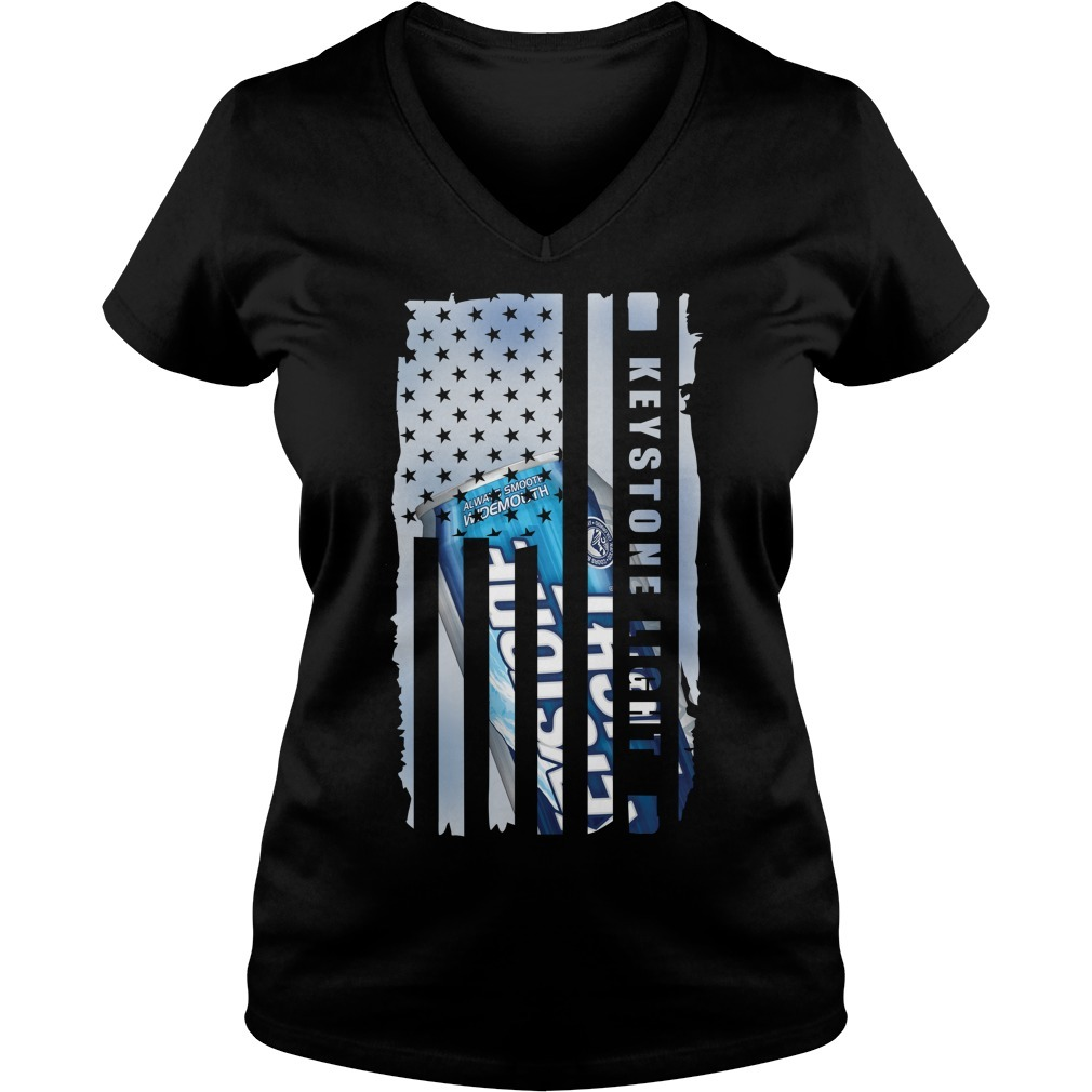 Keystone Light independence day American flag V-neck T-shirt