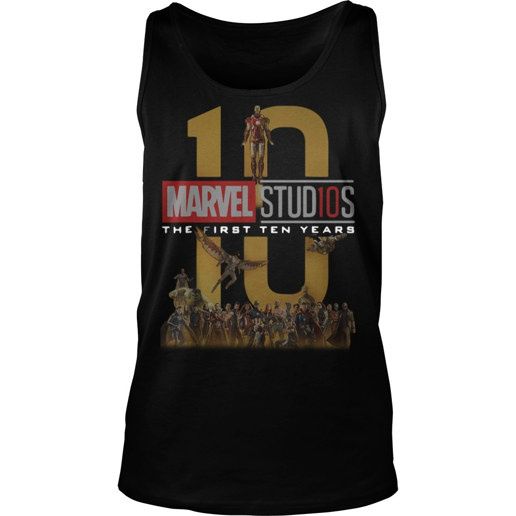 Marvel Studios the first ten years full cast Tank top