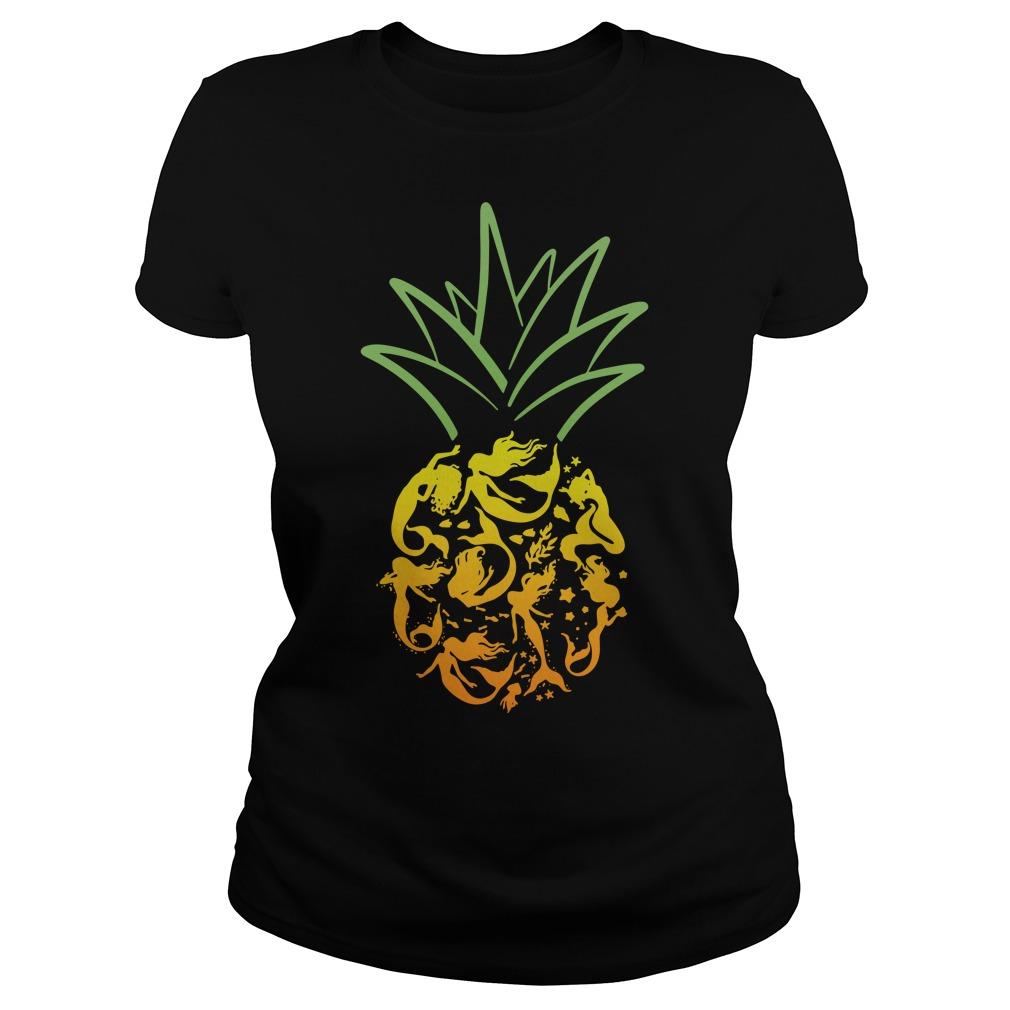 Mermaid pineapple Ladies Tee