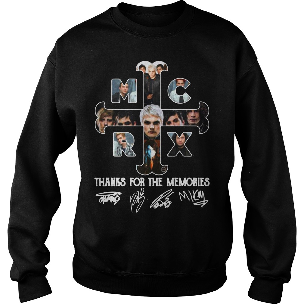 My Chemical Romance thanks for the memories signature Sweater