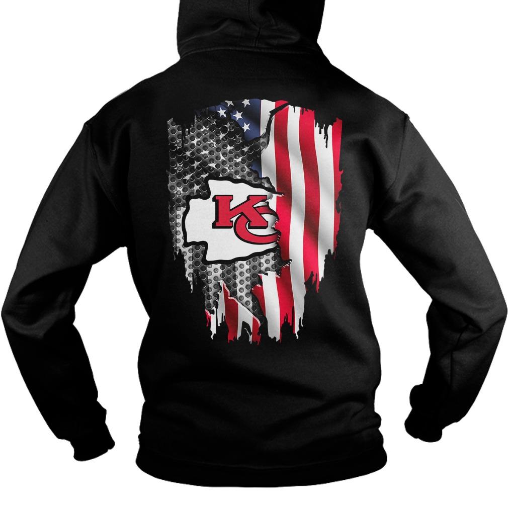 NFL Kansas City Chiefs American flag football Hoodie