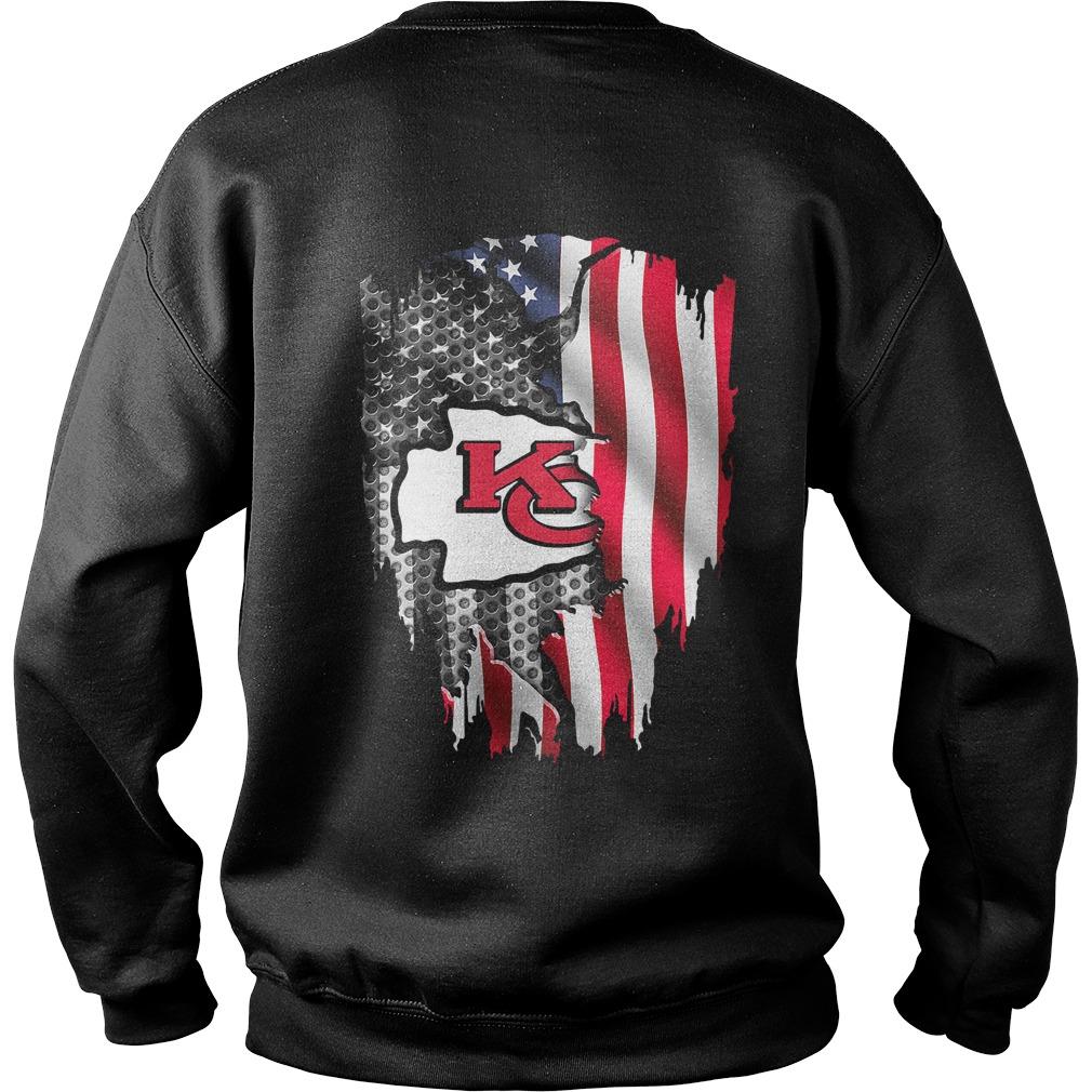 NFL Kansas City Chiefs American flag football Sweater